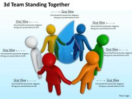 3d Team Standing Together Ppt Graphics Icons Powerpoint