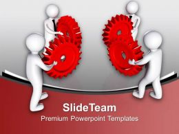 3d Team To Interconnect Gears Industrial PowerPoint Templates PPT Themes And Graphics 0213