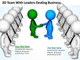 3D Team With Leaders Dealing Business Ppt Graphics Icons Powerpoint 0529
