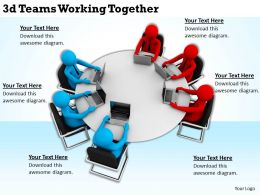3d Teams Working Together Ppt Graphics Icons Powerpoint