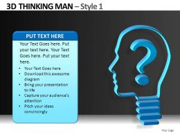 3D Thinking Man Style 1 Powerpoint Presentation Slides DB
