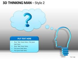 3D Thinking Man Style 2 Powerpoint Presentation Slides DB