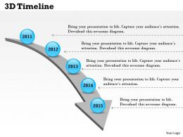 3D Timeline Powerpoint Template Slide