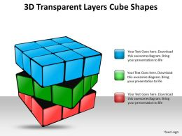 3d transparent layers cube shapes 16