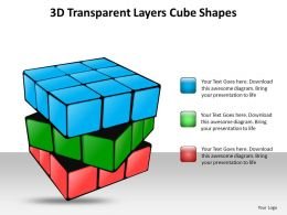 3d transparent layers cube shapes ppt slides templates infographics images 1121