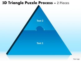 3D Triangle Puzzle Process 2 Pieces