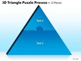 66589275 Style Puzzles Triangular 1 Piece Powerpoint Presentation Diagram Infographic Slide