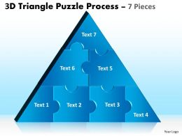 3D Triangle Puzzle Process 7 Pieces 56