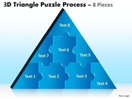 3D Triangle Puzzle Process 8 Pieces 67