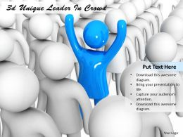 3d Unique Leader In Crowd Ppt Graphics Icons Powerpoint