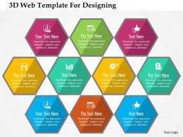 3d Web Template For Designing Flat Powerpoint Design