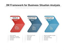 3M Framework For Business Situation Analysis