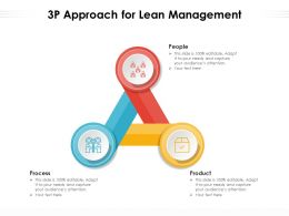 3P Approach For Lean Management