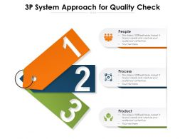 3P System Approach For Quality Check