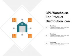 3pl Warehouse For Product Distribution Icon