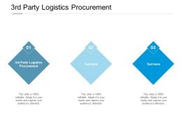 3rd Party Logistics Procurement Ppt Powerpoint Presentation Slides Deck Cpb