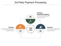 3rd Party Payment Processing Ppt Powerpoint Presentation Layouts Graphics Cpb