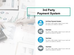 3rd Party Payment System Ppt Powerpoint Presentation Portfolio Icon Cpb
