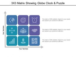 3x3 Matrix Showing Globe Clock And Puzzle