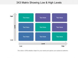 3x3 Matrix Showing Low And High Levels
