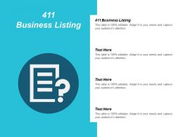 411 Business Listing Ppt Powerpoint Presentation Icon Model Cpb