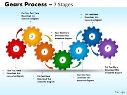 42 Gears Process 7 Stages Style 1 Powerpoint Slides