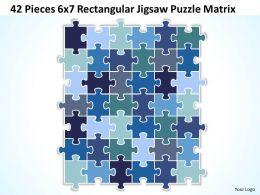 42 Pieces 6x7 Rectangular Jigsaw Puzzle Matrix Powerpoint templates 0812