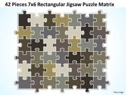 42_pieces_7x6_rectangular_jigsaw_puzzle_matrix_powerpoint_templates_0812_Slide01
