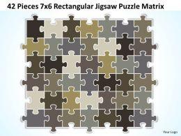 42 Pieces 7x6 Rectangular Jigsaw Puzzle Matrix Powerpoint templates 0812
