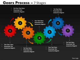 43 Gears Process 7 Stages Style 1 Powerpoint Slides And Ppt