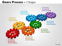 45 Gears Process 7 Stages Style 2 Powerpoint Slides And Ppt Templates