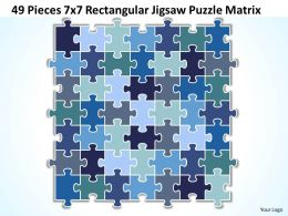 49 Pieces 7x7 Rectangular Jigsaw Puzzle Matrix Powerpoint templates 0812