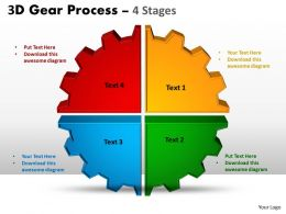 4 3D Gear Process 4 Stages Style