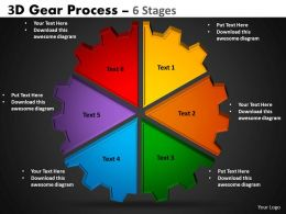 4 3D Gear Process 6 Stages Style 1 2