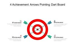 4 Achievement Arrows Pointing Dart Board