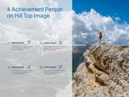 4 Achievement Person On Hill Top Image