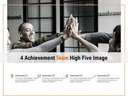 4 Achievement Team High Five Image