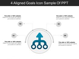 4 Aligned Goals Icon Sample Of Ppt
