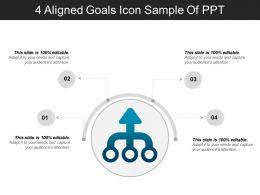 4_aligned_goals_icon_sample_of_ppt_Slide01