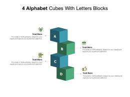 4 Alphabet Cubes With Letters Blocks