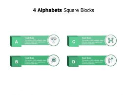 4 Alphabets Square Blocks