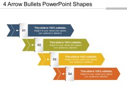 4 Arrow Bullets Powerpoint Shapes