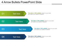 4 Arrow Bullets Powerpoint Slide