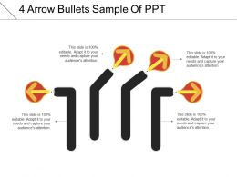 4 Arrow Bullets Sample Of Ppt