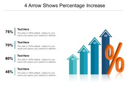 4 Arrow Shows Percentage Increase Powerpoint Slides