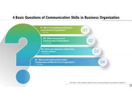 4 Basic Questions Of Communication Skills In Business Organization