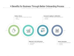4 Benefits For Business Through Better Onboarding Process