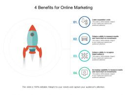 4 Benefits For Online Marketing