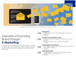 4 Benefits Of Promoting Brand Through E Marketing