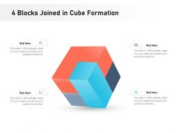 4 Blocks Joined In Cube Formation